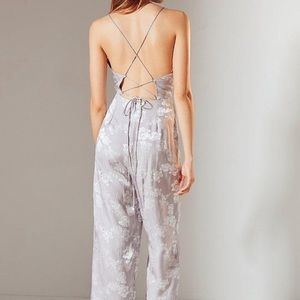 Urban Outfitters Lilac Jumpsuit Satin Silk 4 Small